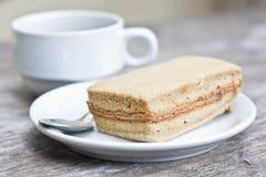 Café y torta de café Imagen de archivo libre de regalías