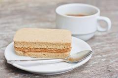 Café y torta de café Fotos de archivo libres de regalías