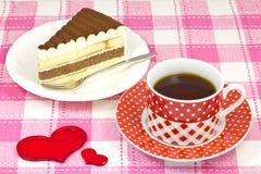 Café y torta de frutas Fotografía de archivo libre de regalías