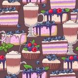 Café y tortas inconsútiles Imagen de archivo