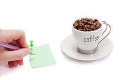 Café y trabajo Imagenes de archivo