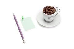 Café y trabajo Fotografía de archivo libre de regalías