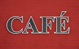Café Zeichen Lizenzfreie Stockfotos