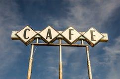 CAFÉ Zeichen Stockbild