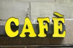 Café-Zeichen Lizenzfreies Stockfoto