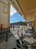 Caféansicht Portugal Stockfoto