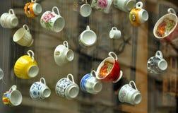 Caféfenster Lizenzfreies Stockfoto