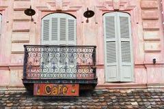 Cafégebäude stockfotografie
