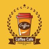 Cafélogo, Restaurantlogo Lizenzfreies Stockfoto