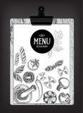Cafémenü-Restaurantbroschüre Lebensmitteldesignschablone Stockfoto