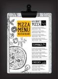Cafémenü-Restaurantbroschüre Lebensmitteldesignschablone Stockbilder