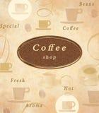 Cafémenüabdeckung Stockfotos