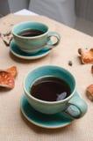 Cafés de la mañana fotografía de archivo