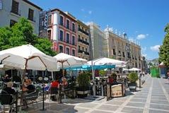 Cafés del pavimento, Granada fotos de archivo libres de regalías