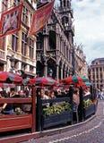 Cafés do pavimento, Bruxelas Foto de Stock