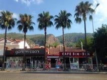 Cafés drôles dans Fethiye Image libre de droits