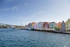 Cafés et magasins en le Curaçao photos libres de droits