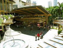 Cafés et restaurants, ceinture verte 3, Makati, Philippines photos libres de droits