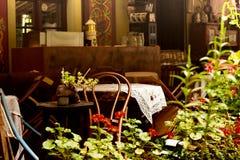 Cafés extérieurs Images stock