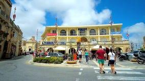 Cafés im Rabat-Stadtzentrum, Malta stock footage