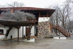 Cafés in Nalchik lizenzfreie stockfotografie