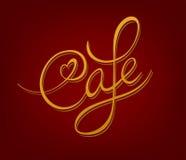 Caféschild Stockbild