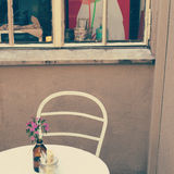 Cafétabelle Stockfotos