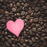 Caf? Bean Heart imagens de stock royalty free