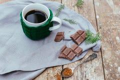 Café con el chocolate Fotografía de archivo libre de regalías