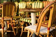 Café congelado de la calle en París Imagen de archivo libre de regalías