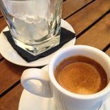 Café d'Expresso avec de la glace Photos stock