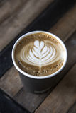 Café da arte do Latte Fotografia de Stock