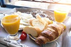 Caf? da manh? delicioso do franc?s imagem de stock royalty free