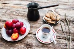 Café da manhã saboroso fresco do outono, estilo rústico Imagem de Stock