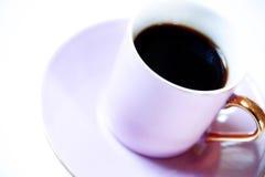 Café de Expresso no copo cor-de-rosa Fotos de Stock Royalty Free