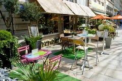 Café de la calle Imagenes de archivo