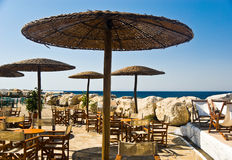 Café de la playa Fotos de archivo libres de regalías