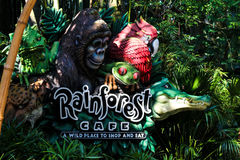 Café de la selva tropical, reino animal, Orlando, FL Foto de archivo