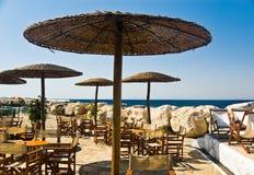 café de plage Photos libres de droits