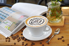 Café de thé d'après-midi Photographie stock libre de droits