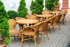Café del aire abierto del verano Fotos de archivo