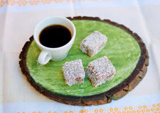 Café e bolos Foto de Stock