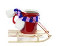 Café e invierno Fotos de archivo libres de regalías