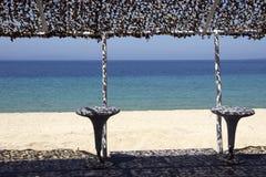 Caf? en la playa y el club del salto fotografía de archivo libre de regalías