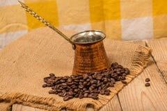 Café et bouilloire Images stock