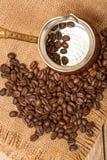 Café et bouilloire Image libre de droits
