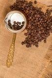 Café et bouilloire Images libres de droits