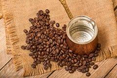 Café et bouilloire Photos stock