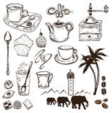 Café et cacao Photos stock