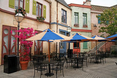 Café europeu clássico vazio da rua Imagem de Stock